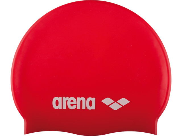 arena Classic Silicone Swimming Cap Kids red-white